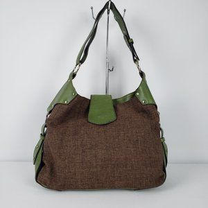 Matt & Nat Green & Brown Hobo Purse